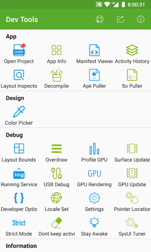 Dev Tools(Android Developer Tools) - Device Info 5.9.0-gp Screen 8
