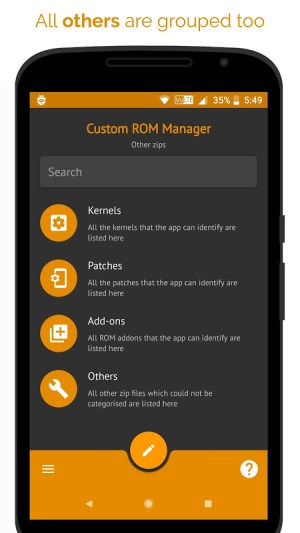 [ROOT] Custom ROM Manager (Pro) 5.5.3.0-pro-stable-minAPI21-arm Screen 2