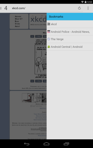 Lightning Browser + 4.0.1a Screen 1