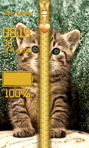 Kitty Zipper Lock Screen 1.2 Screen 3