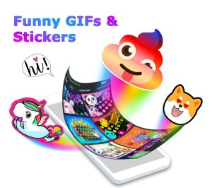 Android ❤️Emoji keyboard - Cute Emoticons, GIF, Stickers Screen 2
