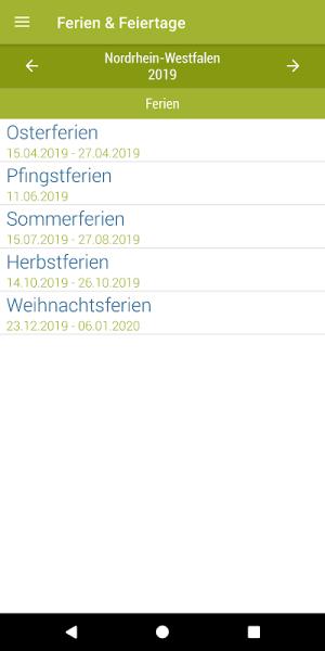 Deutsche Feiertage & Ferien 37.0 Screen 1