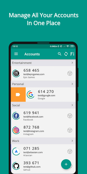 TOTP Authenticator – 2FA with Cloud Sync & Widgets 1.87 Screen 5