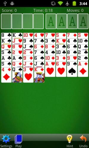 FreeCell Solitaire 2.2.2 Screen 1