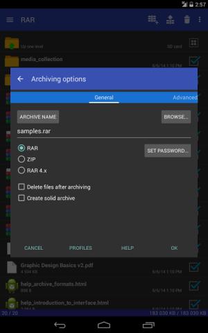 RAR 5.50.build43 Screen 8