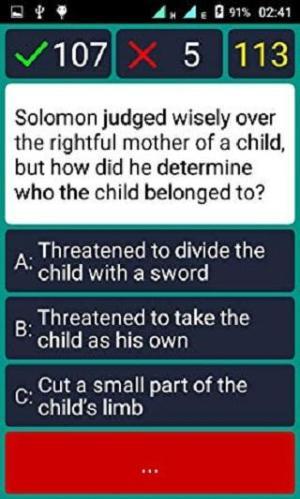 Bible Quiz & Answers 1.0.5 Screen 2