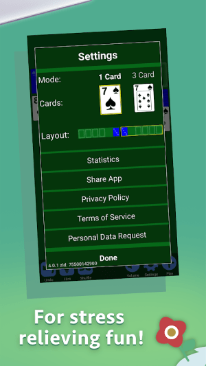 Solitaire 4.1.0 Screen 1