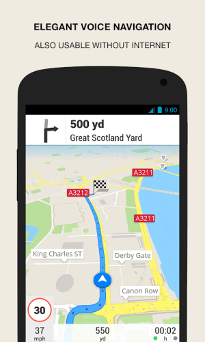 Android GPS Navigation & Maps - Scout Screen 1