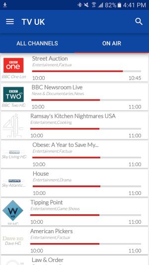 UK Live TV Guide 1.0 Screen 5