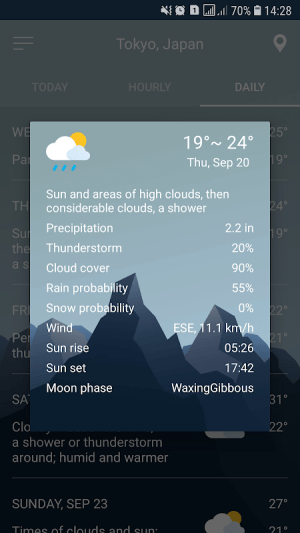 Android Weather Forecast Screen 8