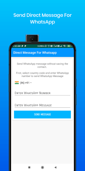 Android Direct Message For Whatsapp & WA Business Screen 1