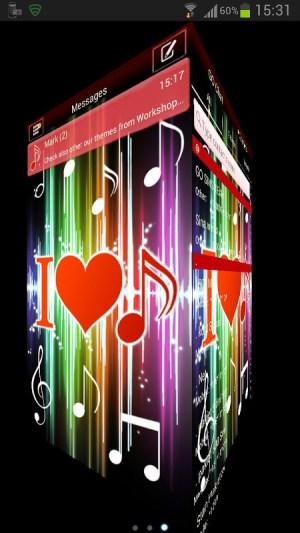 GO SMS Pro Theme 4 music 2.4 Screen 2