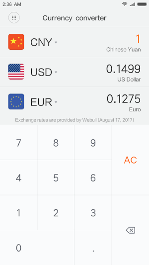 Mi Calculator 10.0.14 Screen 3