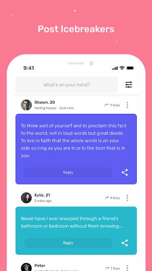 Profoundly: A profound way to make friends 4.5.6 Screen 1
