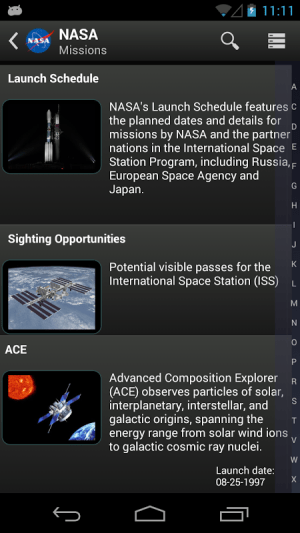 NASA App 1.36 Screen 11