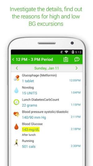 Diabetes & Diet Tracker 5.6.1 Screen 2