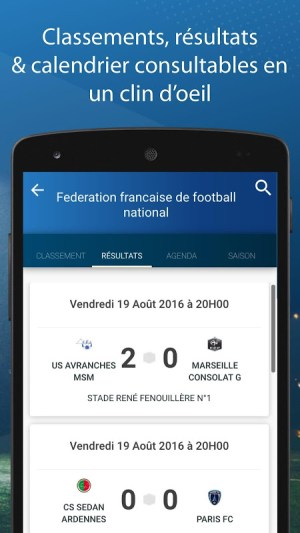 Le Foot Amateur, Matches & Ligues 4.3.1 Screen 1