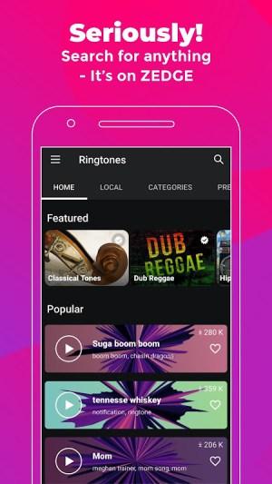 ZEDGE™ Ringtones & Wallpapers 7.17.1-beta Screen 3