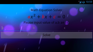 Android Math Equation Solver Screen 4