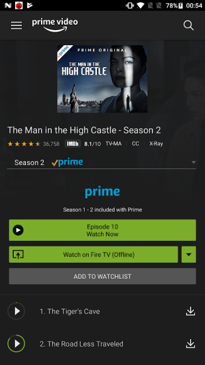 Amazon Prime Video 3.0.253.190801 Screen 2