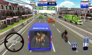 Police Dog Transport Truck Driver Simulation 3D 1.14 Screen 2