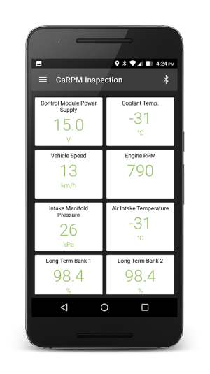 CaRPM Inspection 1.7.0 Screen 2