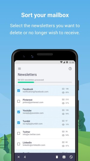 Cleanfox - Clean Your Inbox 3.2.4-83 Screen 1