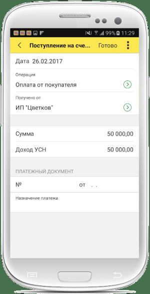 1С:Мобильная бухгалтерия 1.0.87 Screen 3