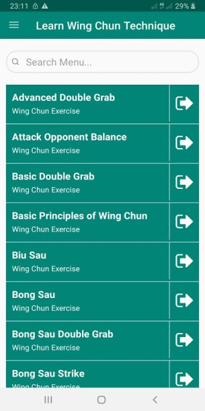 Android Easy Wing Chun Exercise for Beginner - Expert Screen 3
