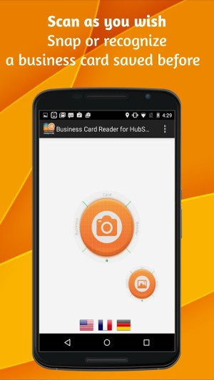 Android Business Card Reader for HubSpot CRM Screen 3