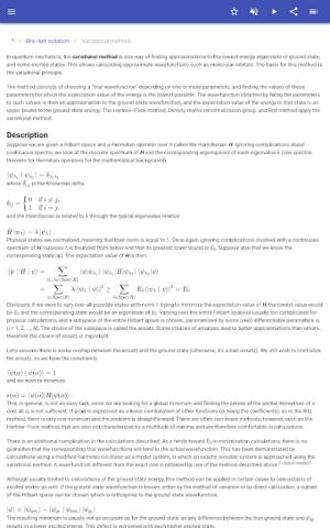 Quantum mechanics 8.5.4 Screen 3
