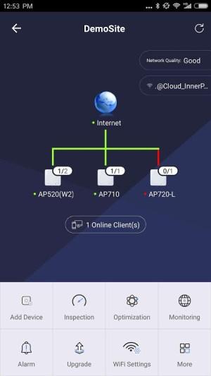 Ruijie Cloud 3.0.9 Screen 1