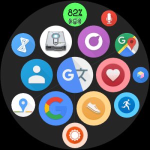 Bubble Cloud Tile Launcher Watchface (WearOS) 9.70 Screen 13