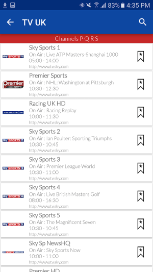 UK Live TV Guide 1.0 Screen 4
