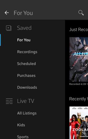 XFINITY Stream 4.3.0.020 Screen 2