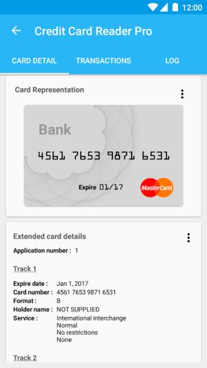 Pro Credit Card Reader NFC 4.2.5 Screen 4