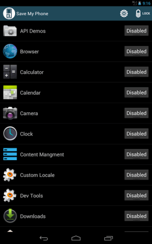 Save Me control your apps free 2.4 Screen 4