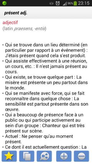 Android Dictionnaire Français Screen 3