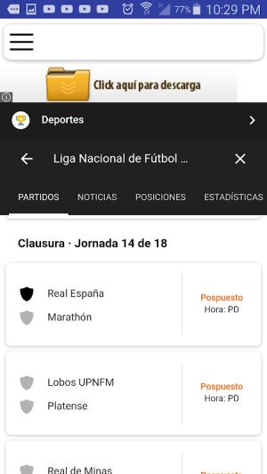Liga Nacional Honduras 1.6 Screen 1