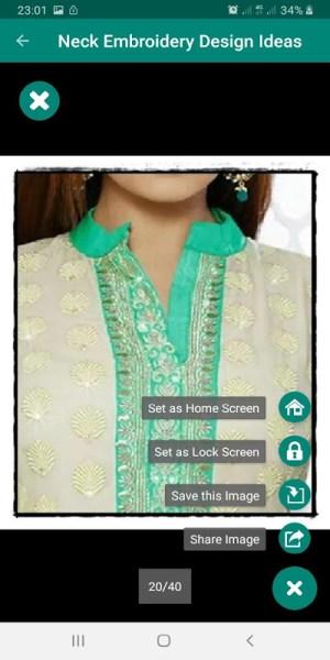 Neck Embroidery Design Idea For Ladies 4.0.3 Screen 1