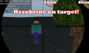 Android sniper herobrine Screen 1