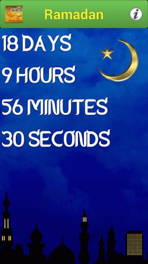 Ramadan 2018 Countdown 2.5 Screen 1