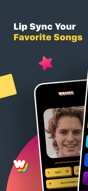 Wombo: Make your selfies sing 1.2.7 Screen 1