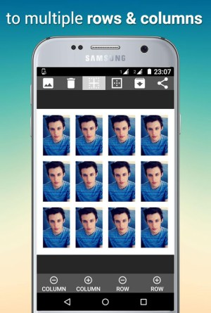 Android Tiled Photo Collage Screen 1