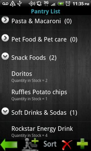 Android My Pantry Screen 6