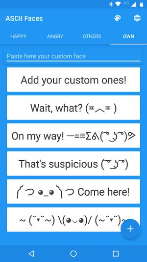 ASCII Faces 4.0.3 Screen 3