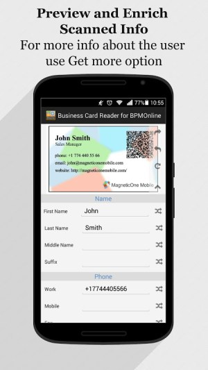 Android bpm'online CRM Business Card Reader Screen 13