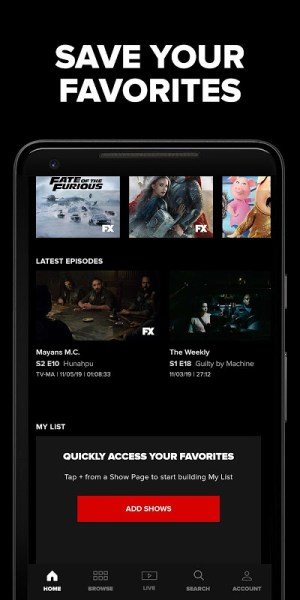 FXNOW: Movies, Shows & Live TV 5.1.1.165 Screen 5