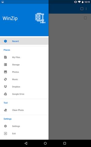 WinZip – Zip UnZip Tool 4.2.3c Screen 8