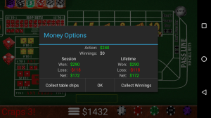 Craps Trainer Free 2.10 Screen 5